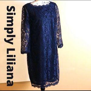 Simply Liliana Beautiful Plus Size Lace Dress